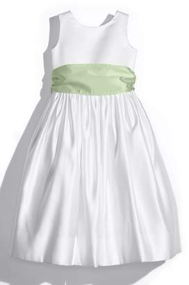Us Angels White Tank Dress with Satin Sash