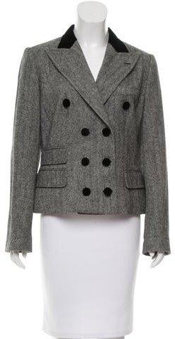 Dolce & GabbanaDolce & Gabbana Wool Herringbone Blazer