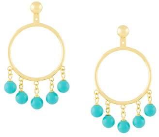 Eshvi fang pearl charm earrings