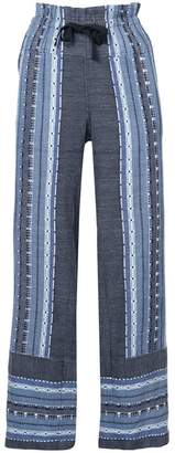 Lemlem embroidered details straight trousers