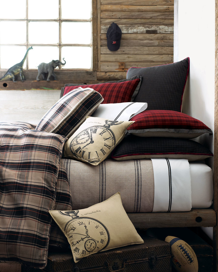 French Laundry Home Plaid King Duvet Cover