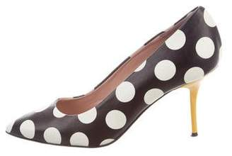 Moschino Pointed-Toe Mid-Heel Pumps
