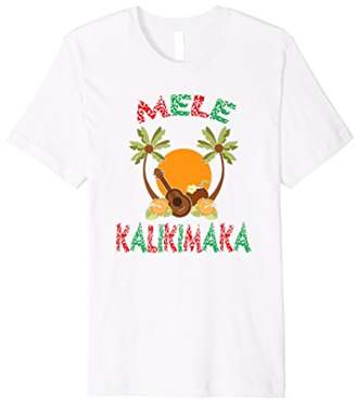 Mele Kalikimaka Hawaiian Merry Christmas Palm Tree T Shirt