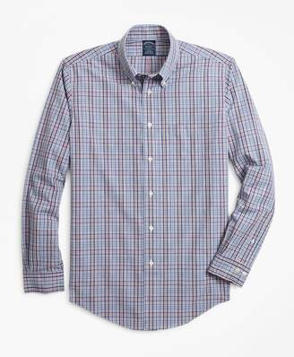 Brooks Brothers Non-Iron Big & Tall Heathered Check Sport Shirt