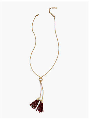 Talbots Double Tassel Necklace