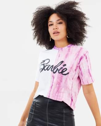 Missguided Barbie Logo Tie-Dye T-Shirt