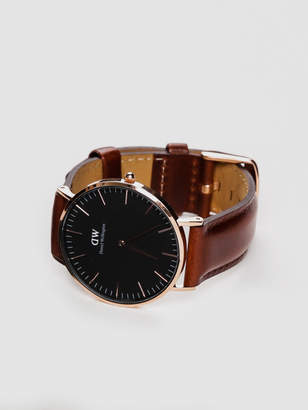 Daniel Wellington St Mawes Classic 36mm Watch in Rose Gold Brown