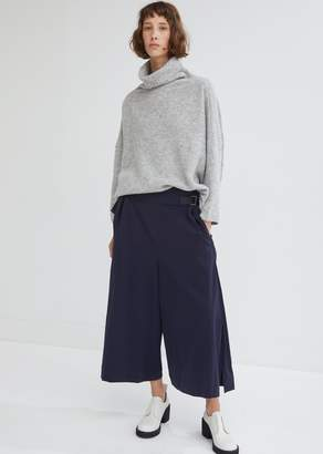 Issey Miyake Stretch Wide Leg Pants with Waist Buckles