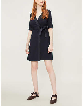 Claudie Pierlot V-neck crepe wrap dress