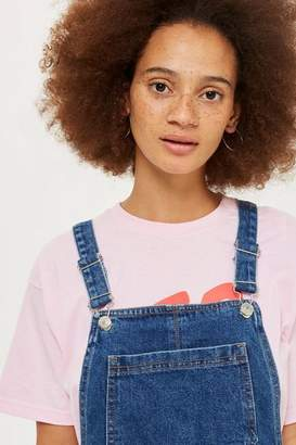 Topshop MOTO Bib Denim Pinafore Dress