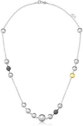 "Gurhan Lentil Ice"" Sterling and Diamond Pave Station Necklace"