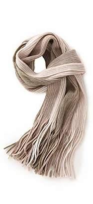 Fancy Stitch Women's Winter Color Block Rib Stripe Knitted Wool Scarf