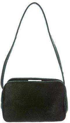 pradaPrada Velvet-Trimmed Ponyhair Bag