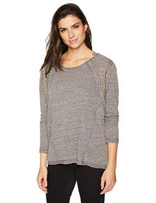 Trust Women's Nailhead Trim Knit Top
