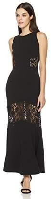 Painted Heart Women's Lace-Mixed Maxi Dress
