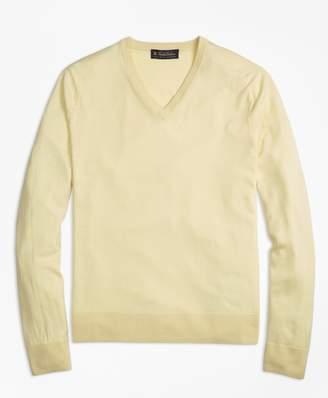 Brooks Brothers Lightweight Merino Wool V-Neck Sweater