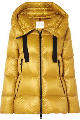 Moncler Quilted Shell Down Jacket - Yellow
