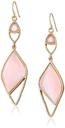 Barse Opal with Rose Quartz Accent Statement Drop Earrings