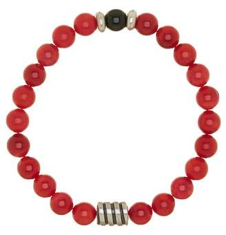 Jean Claude 8mm Red Bamboo Natural Coral Bracelet