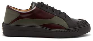 Valentino Rubberup Leather And Rubber Trainers - Mens - Multi
