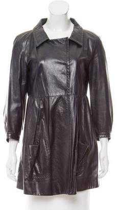 Miu Miu Pocketed Leather Jacket