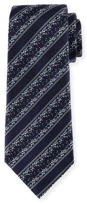 Ermenegildo Zegna Pixelated Twill Striped Silk Tie $195 thestylecure.com