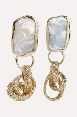 Isabella Collection Stvdio STVDIO Gold-tone Pearl Earrings - one size