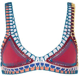 Kiini 'Soley' crochet trim bikini top