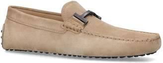 J.P Tods Suede Double T Driving Shoes