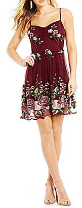 Honey and Rosie Floral-Embroidered Fit-And-Flare Dress $89 thestylecure.com