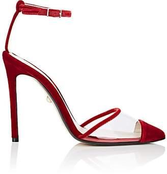 ALEVÌ Milano Women's Bianca Velvet & PVC Pumps - Red