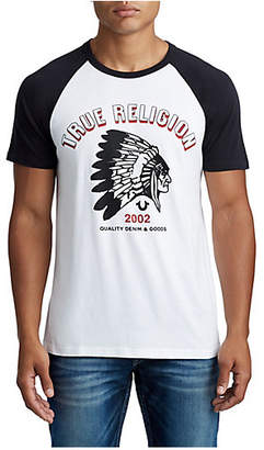 True Religion MENS TEAM RAGLAN GRAPHIC TEE