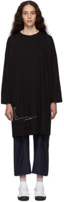 Y's Ys Black M-RN Big T-Shirt Dress