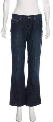 Joe's Jeans Mid-Rise Wide-Leg Pants