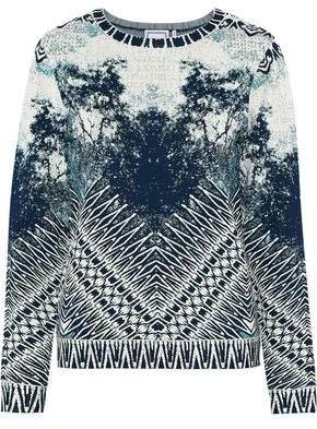 Herve Leger Ronja Jacquard-Knit Sweater