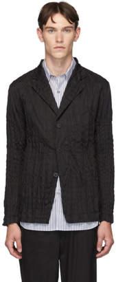 Issey Miyake Black Torus Basic 3-Button Blazer