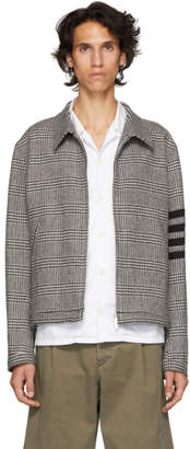 Thom Browne Black and White Four Bar Golf Jacket