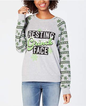 Rebellious One Juniors' Grinch Graphic Sweatshirt