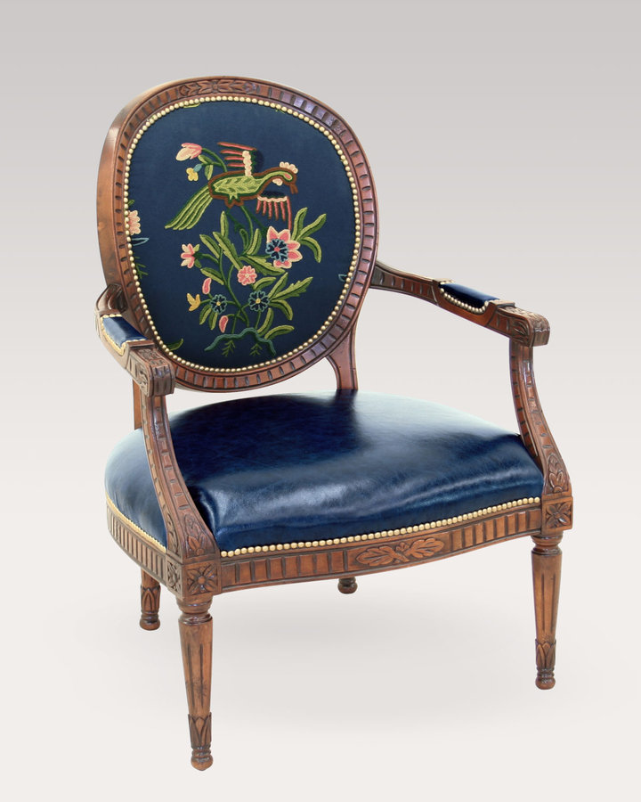 Horchow Aubrey Crewel Chair