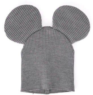 Comme des Garcons Mixed Grey Wool Fabric Hat With Ears.