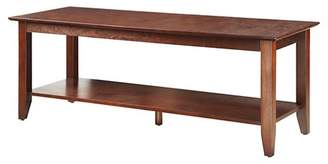American Heritage Convenience Concepts Coffee Table with Shelf