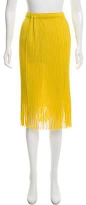 Pleats Please Issey Miyake Plissé Fringe Skirt