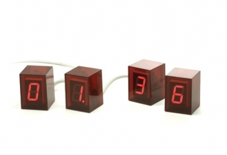 Jonas Damon Numbers Clock Red - Red LED