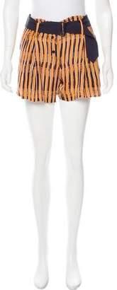 A.L.C. Printed Silk Shorts