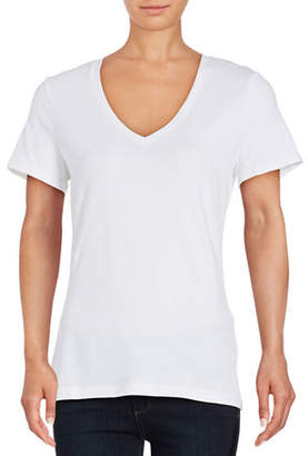 Lord & Taylor Petite V-Neck Compact Tee