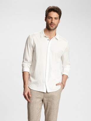 John Varvatos Button-Front Knit Shirt