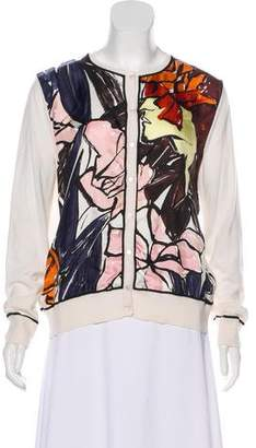 Christian Dior Printed Cashmere-Blend Cardigan w/ Tags