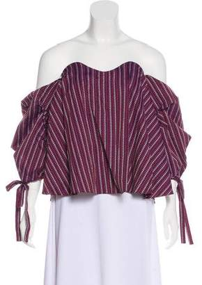 Caroline Constas Gabriella Off-The-Shoulder Top w/ Tags