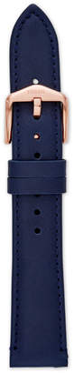 Fossil 18mm Navy Leather Strap