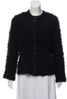 Sonia Rykiel Virgin Wool & Mohair-Blend Heavyweight Cardigan Black Virgin Wool & Mohair-Blend Heavyweight Cardigan